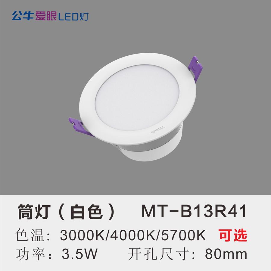 LED筒灯3.5W【白色面环】