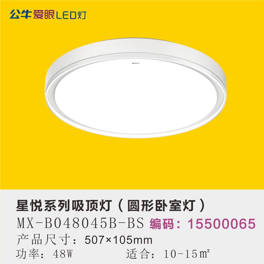 星悦LED现代简约卧室灯48W三色变光