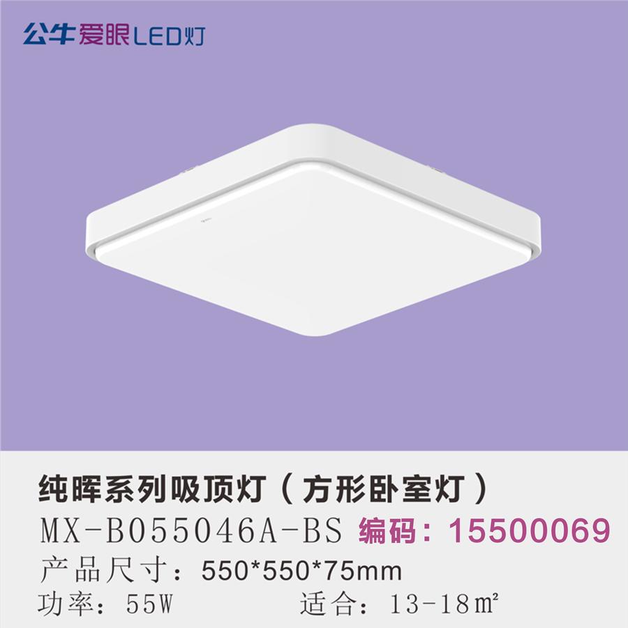 纯晖LED现代简约卧室灯55W三色变光