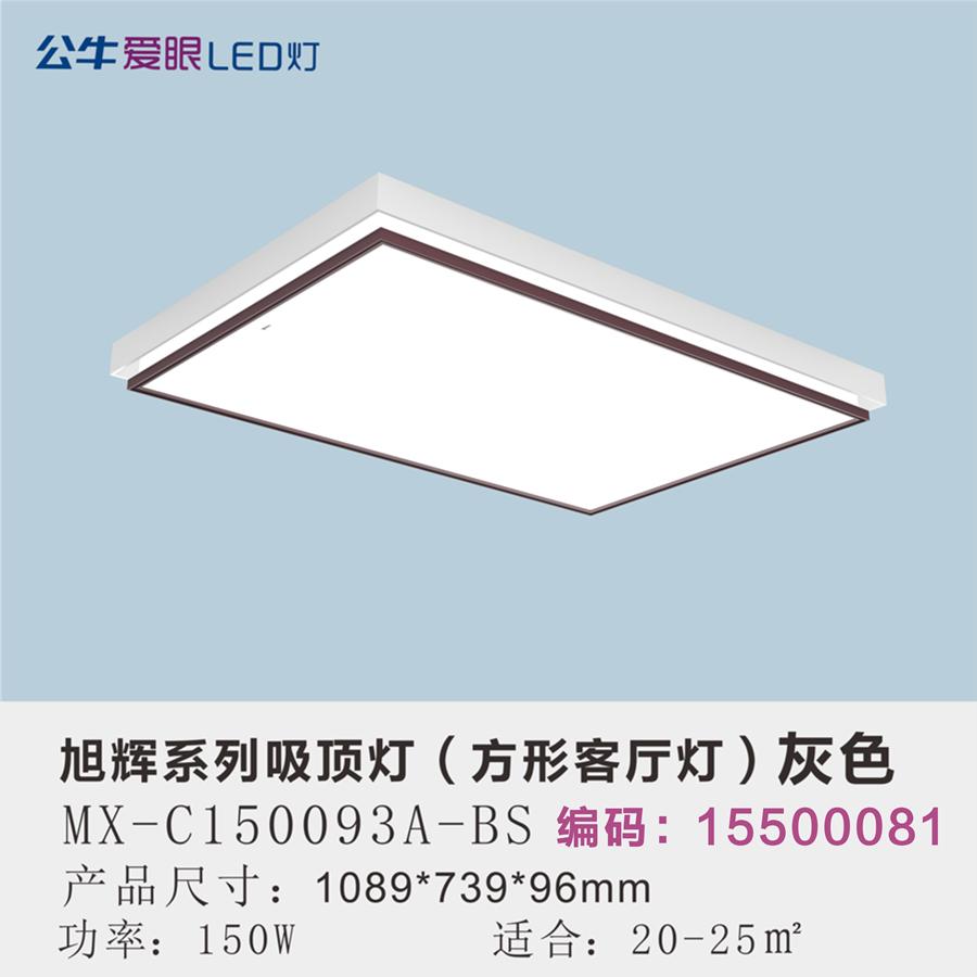旭辉LED现代简约客厅灯150W三色变光/灰色