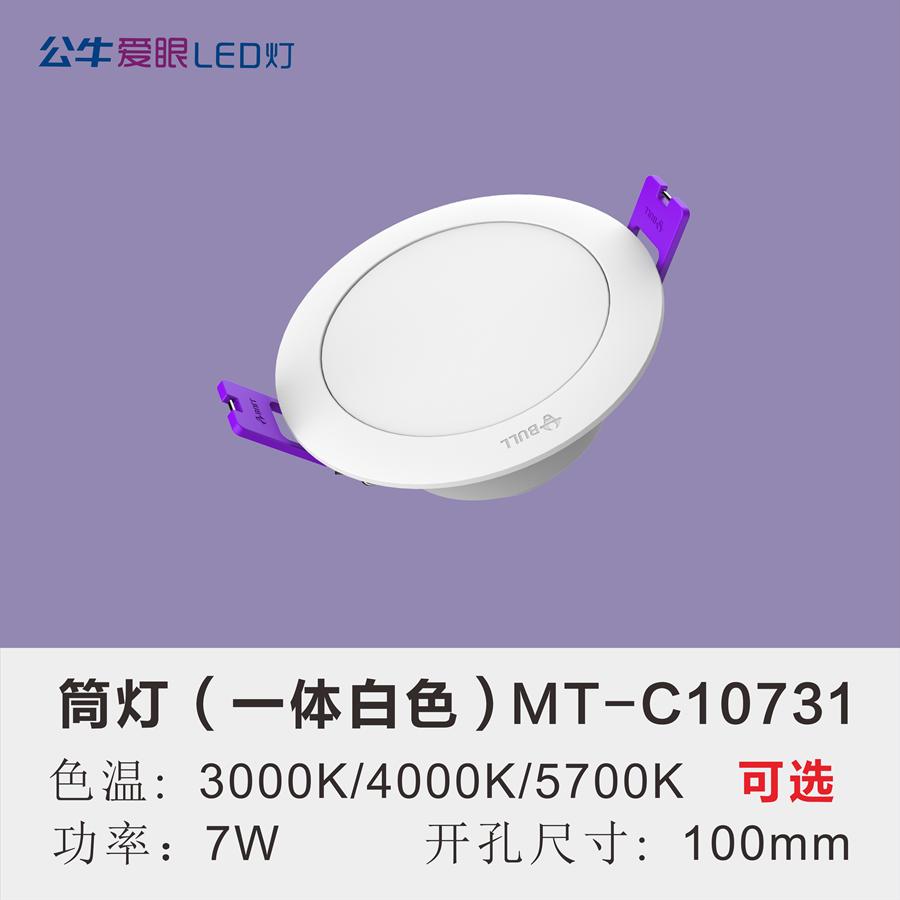 LED筒灯7W【一体白色面环】