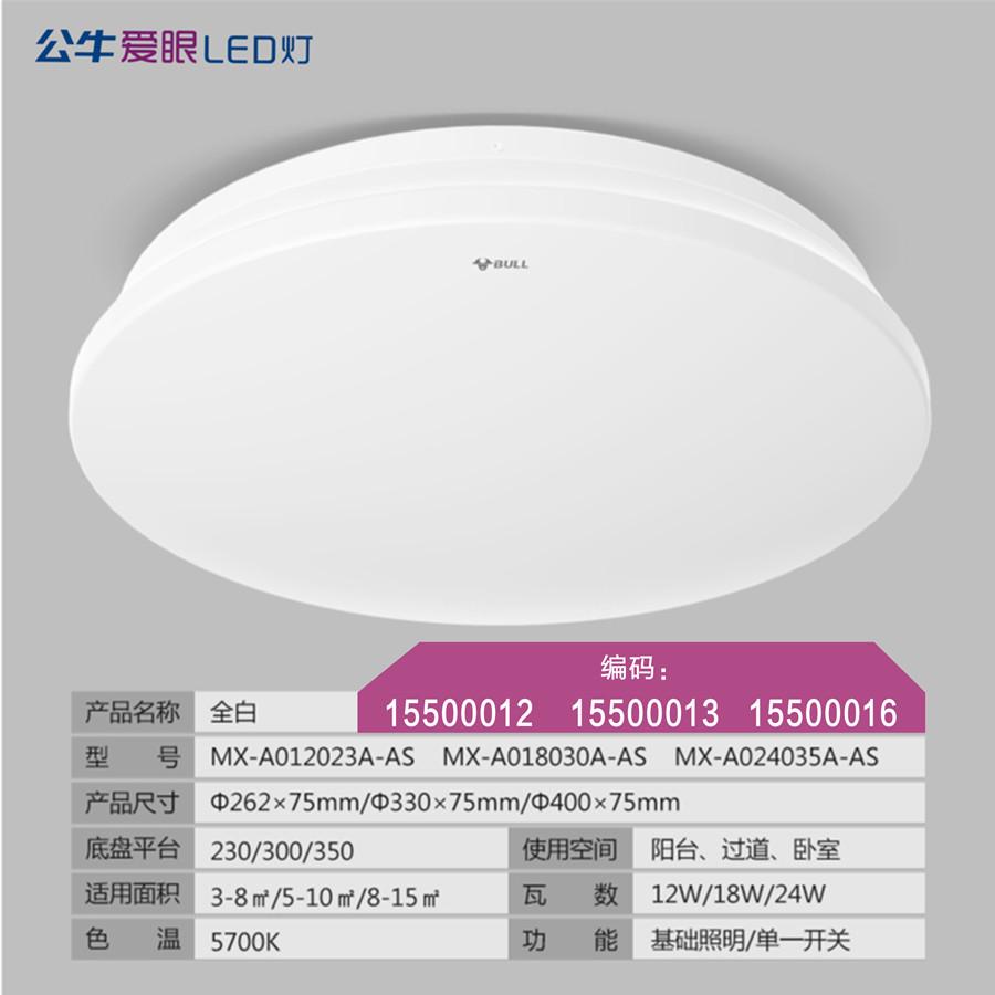 LED圆形吸顶灯适用于卧室/阳台/过道/小客厅【全白】