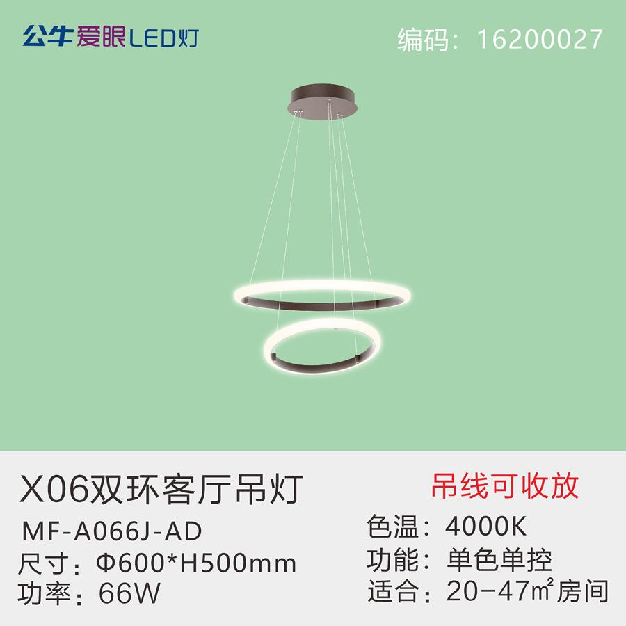 X06双环客厅吊灯