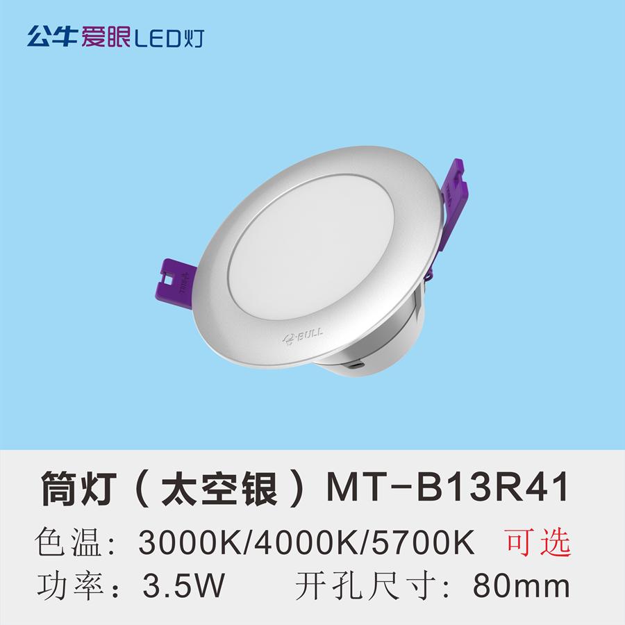 LED筒灯3.5W【太空银面环】