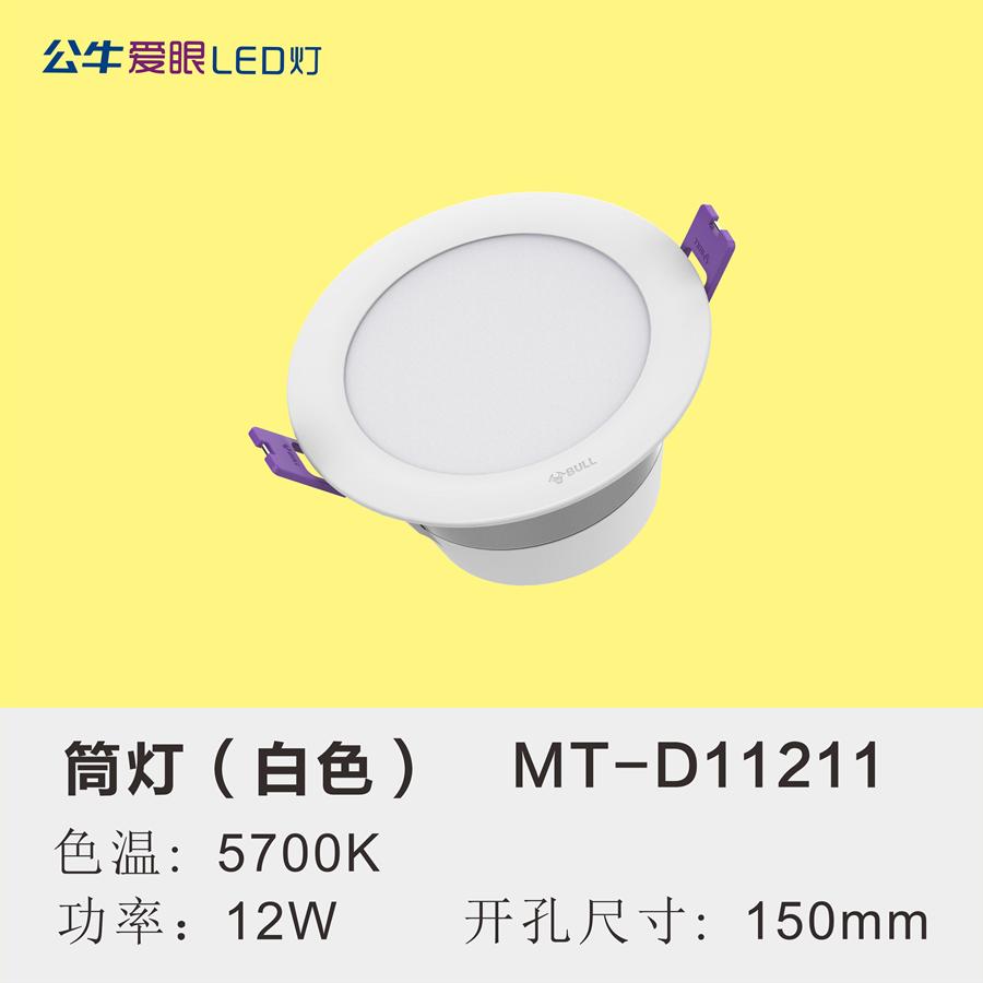 LED筒灯12W【白色面环】